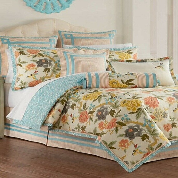 Waverly Candid Moment 4 Pc F Queen Comforter Set Nwt